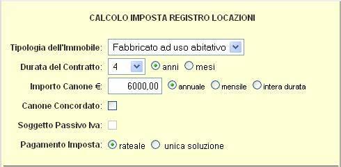 Calcolare la tassa di registro per contratti di locazione for Calcolo istat locazioni
